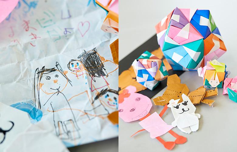 子どもたちが作ってくれたプレゼントは田中さんの宝もの。作っている姿を想像するだけで、心が温かくなります。