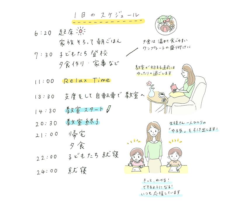 くもんの鈴木先生の1日のスケジュール