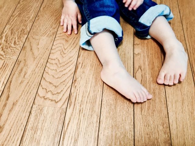 足の指を使う 足育