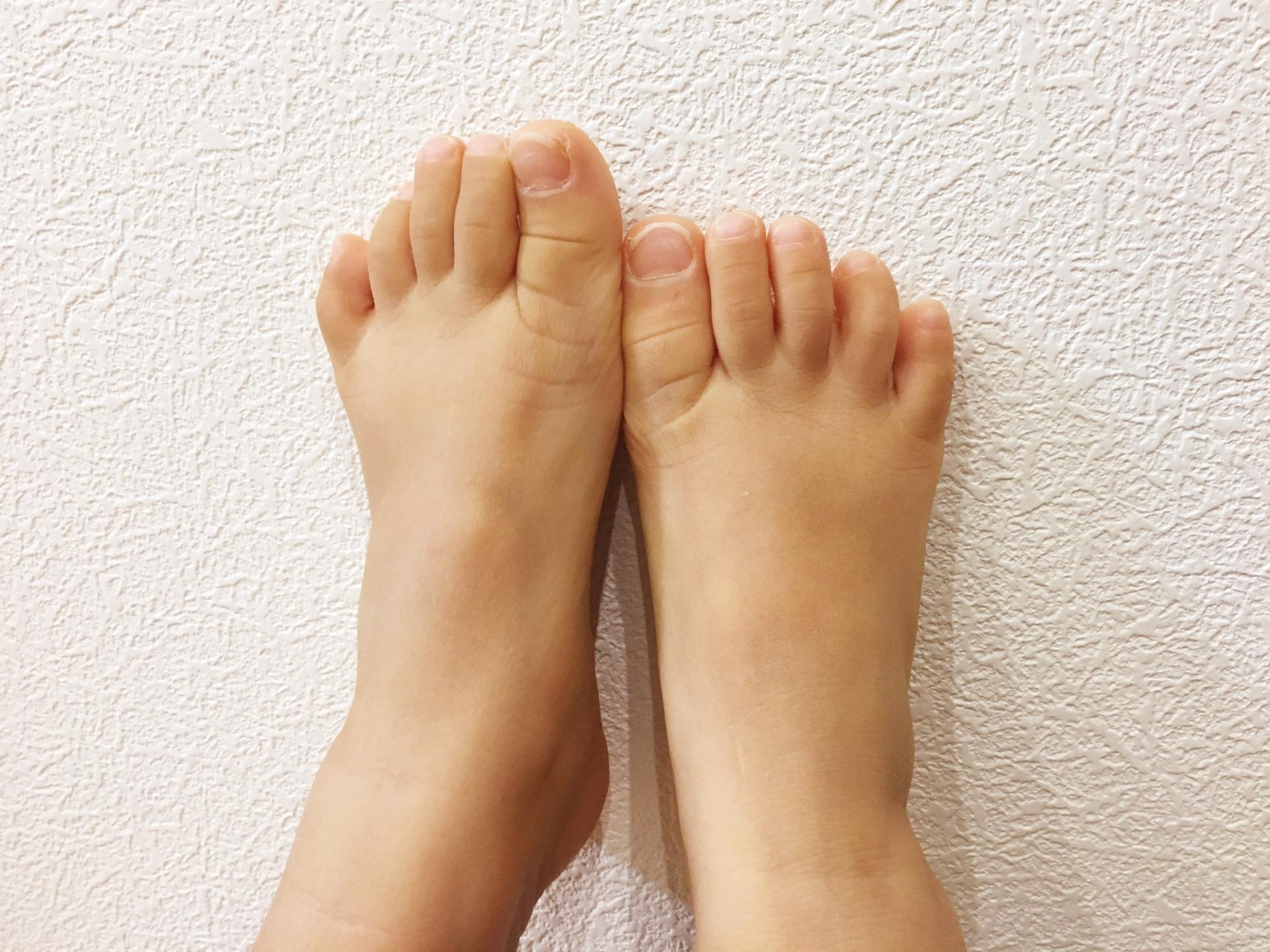 子どもの足の成長